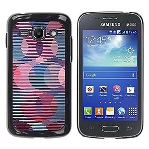 Be Good Phone Accessory // Dura Cáscara cubierta Protectora Caso Carcasa Funda de Protección para Samsung Galaxy Ace 3 GT-S7270 GT-S7275 GT-S7272 // Retro Wallpaper Striped Pattern P
