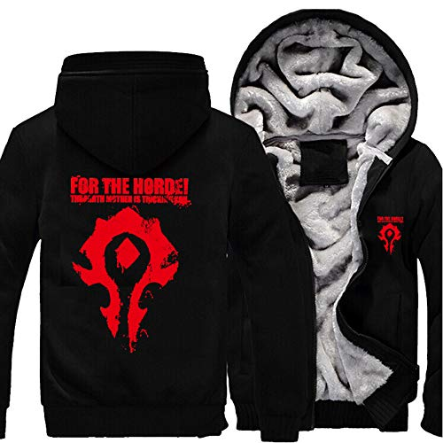 Game World of Warcraft Men's Coat WOW Horde Hoodie Alliance Sweatshirt