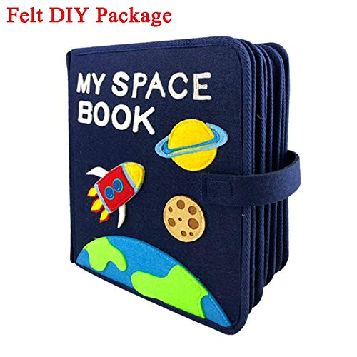 X-CRAFT Handmade Baby Book Handmade My Space Book Baby Early Education First Quiet Felt Book 21x25cm Mom Picture Book Felt Package by X-CRAFT
