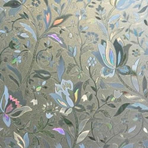 (1 Pack 3D Scrubs Frosted Privacy Frost Film Wall Sticker Living Room Bedroom Princess Nursery Paradisiacal Popular Dream Butterfly World Moon Star Ocean Sun Flowers Vinyl Home Mural Art Decor, Type-02)