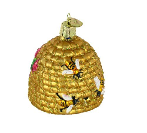 Old World Christmas Ornaments: Bee Skep Glass Blown Ornaments for Christmas Tree by Old World Christmas (Image #7)