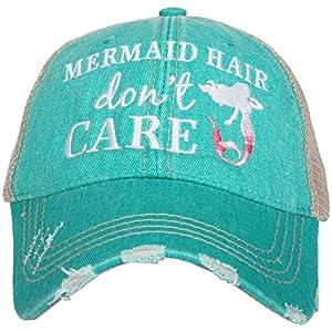 KATYDID Mermaid Hair Don't Care Baseball Hat – Trucker Hat for Women – Stylish Cute Sun Hat