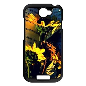 Generic Cell Phone Case For HTC One X case Blooming Sunflower Pattern