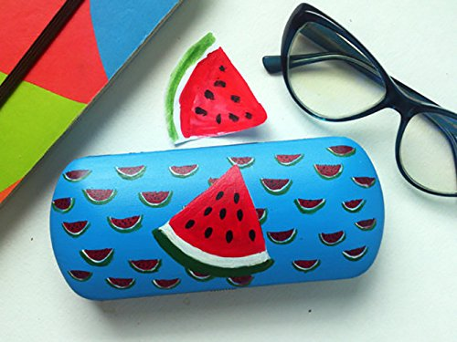 Glasses case hard - spectacle case - eyeglass cases hard - box for glasses - hand-painted - sunglass case - watermelon - Painted Sunglasses