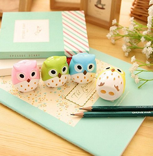 (Kawaii Owl Pencil Sharpener Cutter Knife Promotional Gift Stationery)