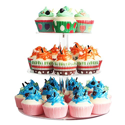 NeoBee 3-Tier Round Party Cake display Stands/ cake stand/ cupcake stand/ cupcake display/ Cupcake rack/ Food display stand .