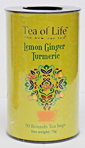 Tea of Life Lemon Ginger Turmeric 50 Rounds Tea Bags 75g Tin (Life Of Tea Tea Green Honey)