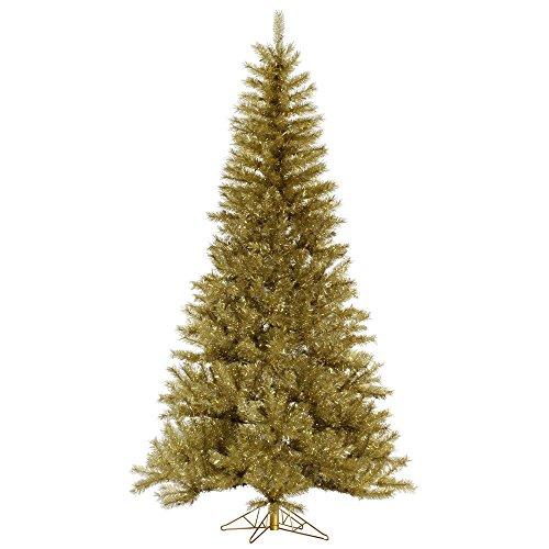 Vickerman Unlit Gold/Silver Tinsel Artificial Christmas T...