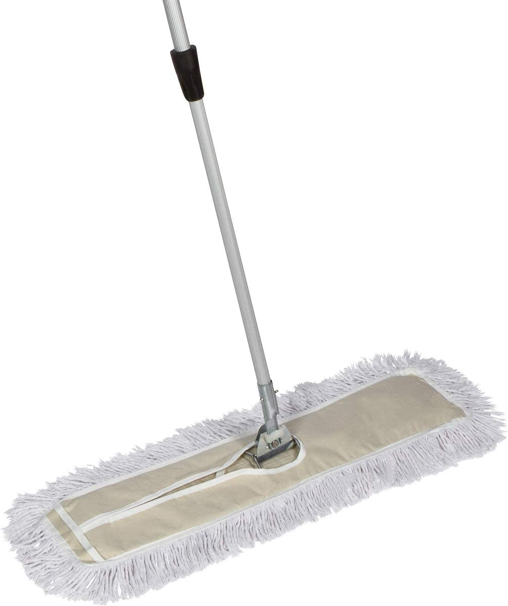 Amazon Com Tidy Tools 30 Inch Cotton Dust Mop 30 X 5 Wide Mop Head With Cut Ends 60 Inch Extendable Metal Telescopic Handle Health Personal Care