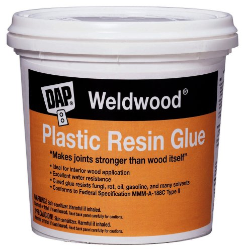 Dap 00204 Weld Wood Plastic Resin Glue, 4.5 Lb, Pail, Tan, Powder, (Best Glue For Plastic To Wood)