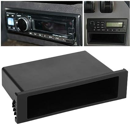 caja de almacenamiento de radio CD est/éreo de coche de un solo din organizador interior Caja de almacenamiento de radio