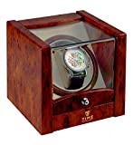 Time Tutelary Single Watch Winder (High Gloss Burlwood) No' 079