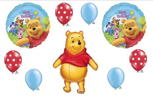 Winnie The Pooh Birthday Party Balloons Decorations Supplies by Balloon Emporium by Anagram -