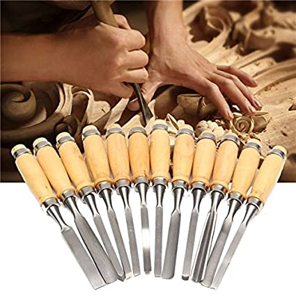 Okayji Wood Carving Hand Chisel Tool Set Professional Woodworking