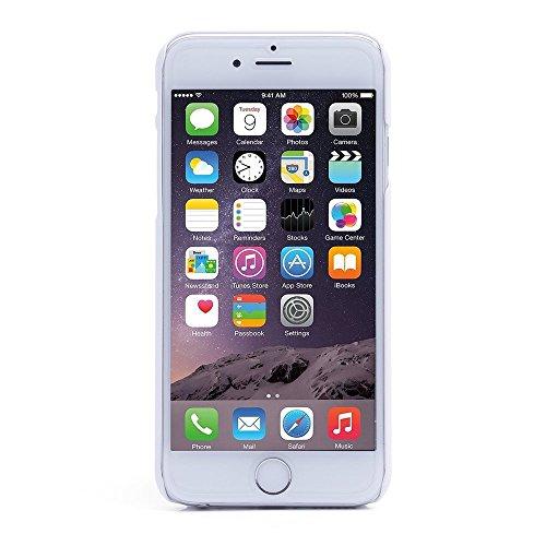 iProtect Premium Schutzhülle Apple iPhone 6 Plus, 6s Plus (5,5 Zoll) Hard Case Grid Effect mit Logoaussparung - weiß
