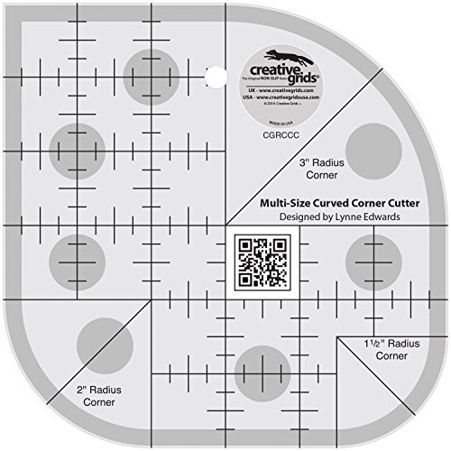 - Creative Grids Curved Corner Cutter Quilting Ruler Template for Rounding Corners [CGRCCC]