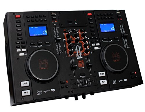 Mr  Dj Cdmix Cdmix1000bt Professional Dual Cd Mixer With Usb Card Slot And Bluetooth Technology
