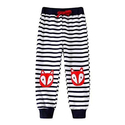 Sweatpants Fox (KIDSALON Little Toddle Boys Cotton Pants Drawstring Elastic Sweatpants (6T, Fox))