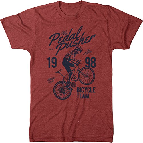 Pedal Pusher The Legend Men's Modern Fit T-Shirt (Vintage Red, XX-Large) ()