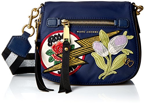 Marc Jacobs Nylon Patchwork Small Nomad, Navy Multi