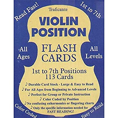 Violin Position Flash Cards 1st to 7th Positions 113 Cards: Musical Instruments