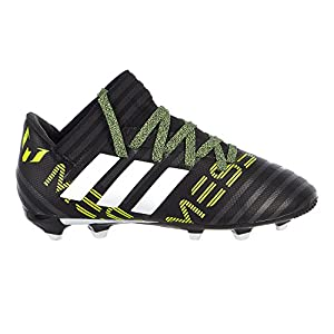 adidas Kids' Nemeziz Messi 17.3 FG J Soccer-Shoes, Black/White/Solar Yellow, 6 Big Kid