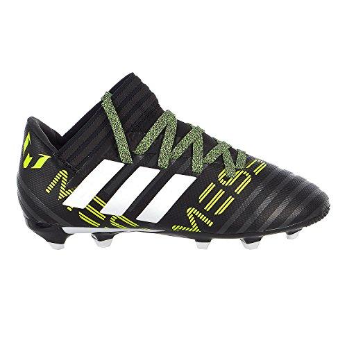 adidas Kids' Nemeziz Messi 17.3 FG J Soccer-Shoes, Black/White/Solar Yellow, 4.5 Big Kid