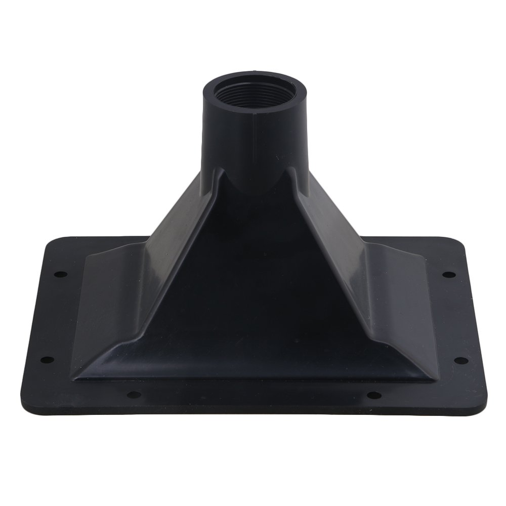 Yibuy 19.5x15.5cm Black ABS Plastic 35mm Thread Diameter Plastic Screw-On Tweeter Horn for Speaker etfshop M7171229036