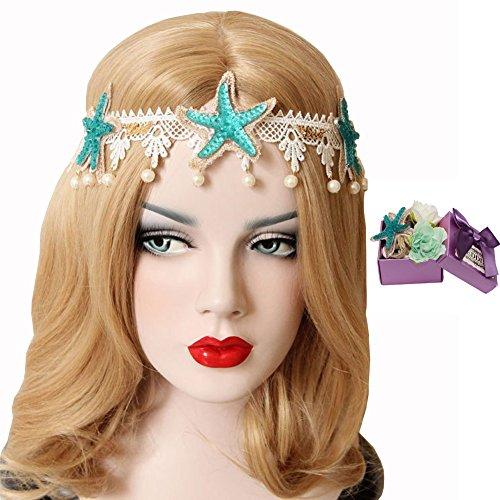 Scala Mermaid Sea Star Starfish Hairbands Mermaid Hair Accessories Headband Mermaid Costume