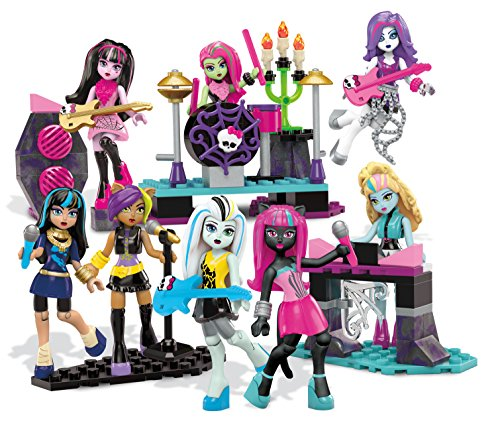 Mega Bloks Monster High Glam Ghoul Band Building Kit - Rock Out With 8 of Your Favorite, Super Detailed, Fashionable Characters and Instruments - Combine with Other Monster High Sets - Ages 6 Plus -