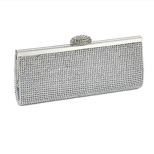 YYW pour Pochette Bag femme Evening silver rp0zqSrx