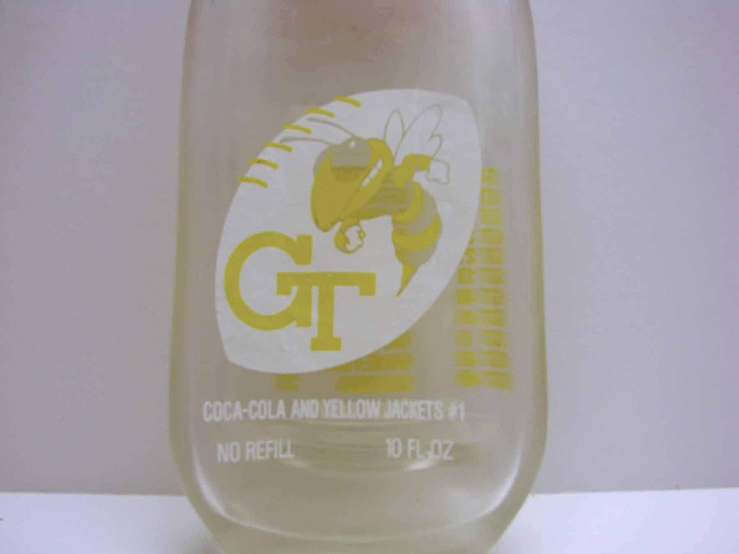 Georgia Tech Yellow Jackets 1990 National Football Champions Coke Bottle Display or Spoon Rest