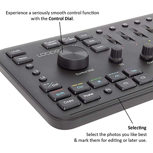 Loupedeck+ Plus Photo and Video Editing Console and Keyboard for Adobe Lightroom, Adobe Photoshop CC, Premiere Pro CC, Skylum Aurora HDR and More by Loupedeck (Image #3)