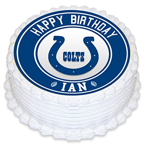 Indianapolis Colts Edible Image Cake Topper Personalized Birthday 8