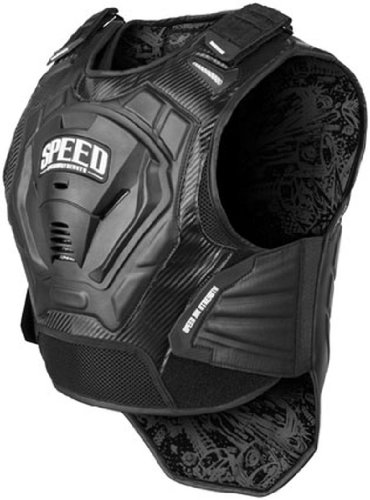 Speed and Strength Lunatic Fringe Men's Motorcycle Vest (Black, Large/X-Large)