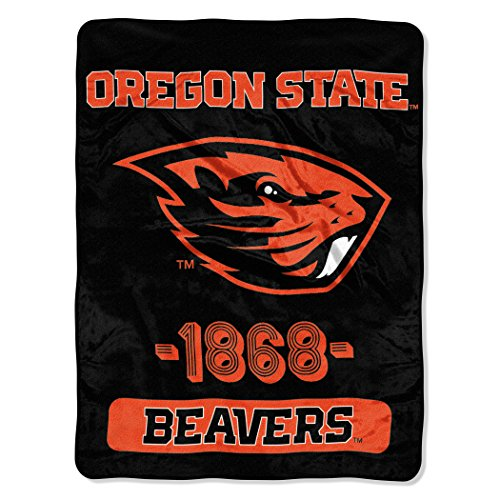 (Officially Licensed NCAA Oregon State Beavers Varsity Micro Raschel Throw Blanket, 46