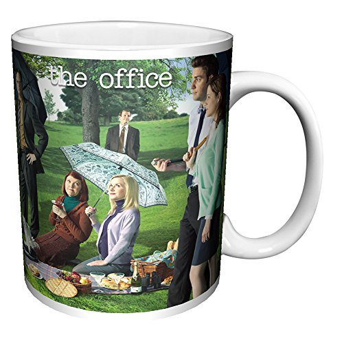 The Office Georges Seurat Painting (Dunder Mifflin) Cast Group Workplace Comedy TV Television Show Coffee (Tea, Cocoa) Mug, 11 Ounce ()