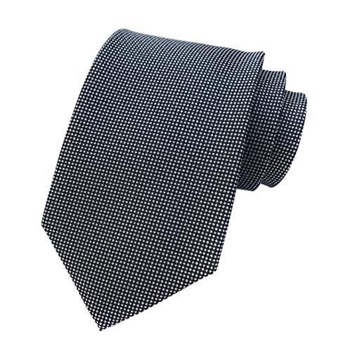 Men Boys Micro Gingham Designer Inspired Tie Black Necktie Pretty Birthday Gifts