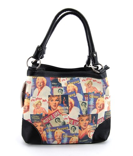 Marilyn Monroe Collage Medium Handbag, MM613