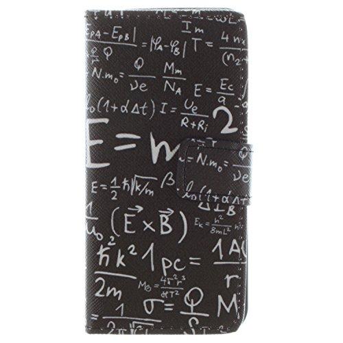 MOONCASE iPhone 5 Case Magnetverschluss [Painted Patterns] Leder Tasche Flip Case Cover Schutzhülle Etui Hülle Schale für iPhone 5 5S -LK19