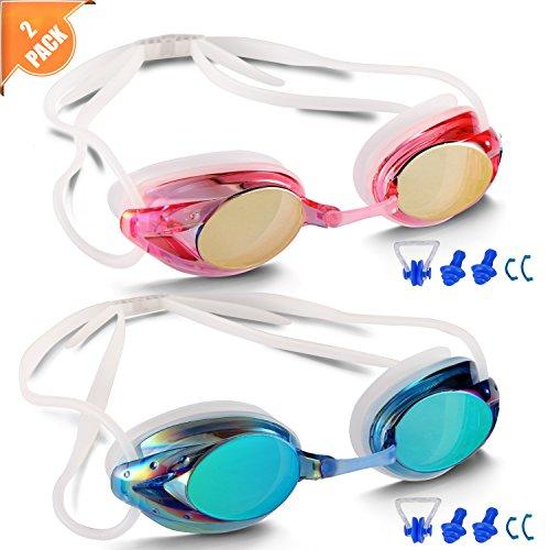 6786e44cca6 Braylin Swimming Goggles Anti Fog Shatterproof UV Protection