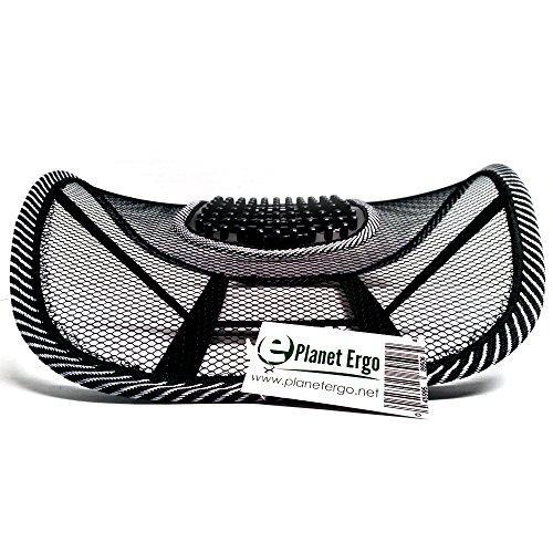 Lumbar Support Black Mesh for Office Chairs Car Lower Back Pain by PlanetErgo