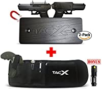 BELLY BAND HOLSTER for Active Concealed Carry | IWB/OWB Pistol Waistband Belt for Running, Hiking, Jogging | Waterproof Zipper Travel Pocket | Spare Magazine Pouch | Men & Women | BONUS LED TacLight