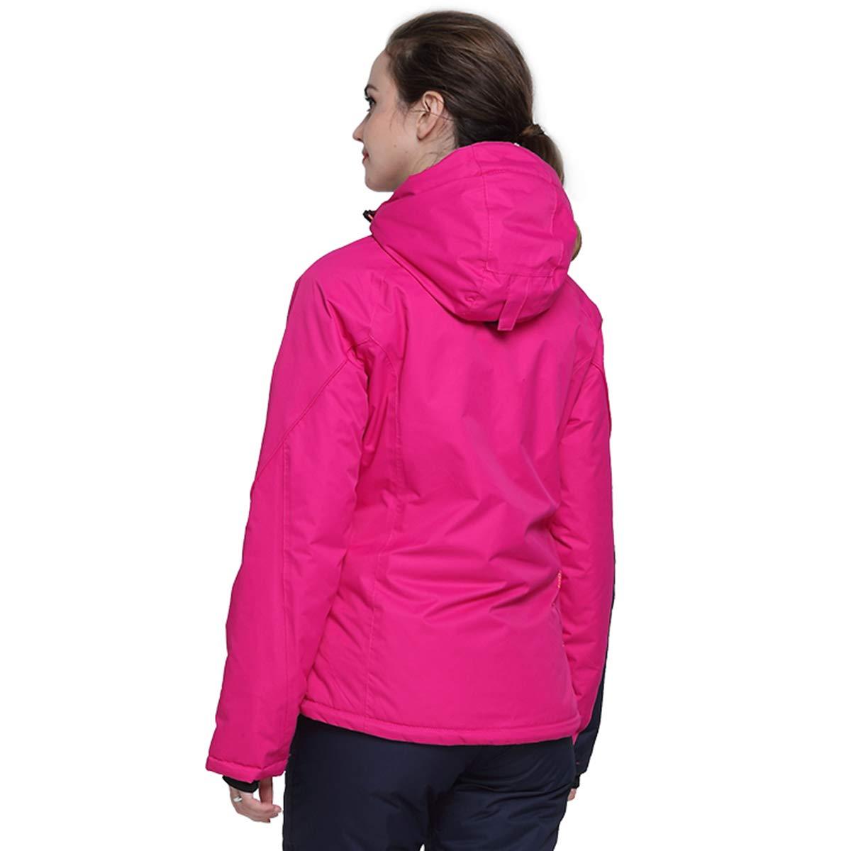Victrax Womens Waterproof Ski Jacket Warm Windproof Hooded Snowboard Jacket