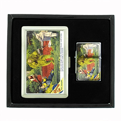 Judy Garland 1939 Wizard Of Oz Cigarette Case Oil Lighter Gift Set D-213 by Perfection In Style