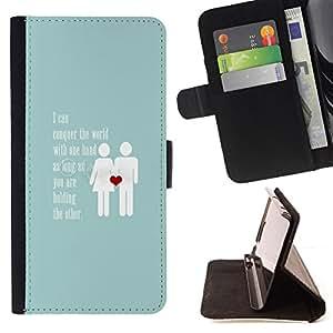 - Queen Pattern FOR Samsung Galaxy Note 4 IV /La identificaci????n del cr????dito ranuras para tarjetas tir????n de la caja Cartera de cuero cubie - love baby blue couple heart in