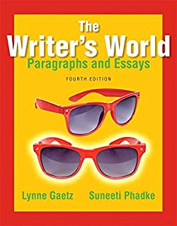 com the writers world paragraphs and essays books a la  the writer s world paragraphs and essays plus mywritinglab pearson etext access card