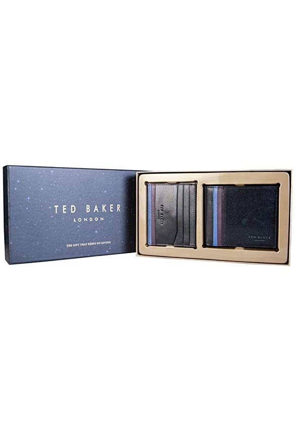 8293e543e Amazon.com  Ted Baker Mens Cardholder Wallet DC8M GG11 HOOMS Size ONE SIZE  Black  Ted Baker  Clothing