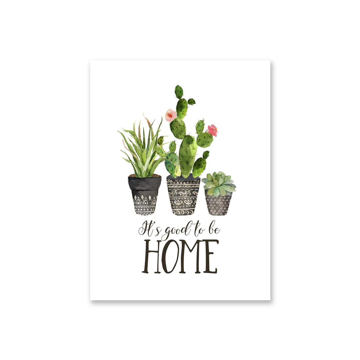 Premium Printing with Canon Japan Ink TUNAstudio Good to Be Home Unframed   Designed Canvas Prints 12x16 inch Sunflowers, Home, Motivating Quote Set of 3