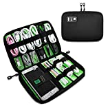 EUTI Travel Universal Cable Organizer Bag, Small Electronics Accessories Cases For Various USB,Cables, Earphone, Charger, Phone